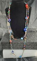 Vintage Italian Venetian Murano Glass Bead Necklace
