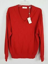 HARRY VARDON Red V Neck Sweater size Large NWT