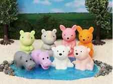 IWAKO Wild Animals Puzzle 8 Rubber Erasers - Kangaroo, Polar Bear, Rhino, Hippo