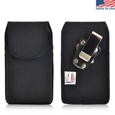 iPhone 4S Nylon cell phone Vertical Pouch holster Case Rotating Metal Belt Clip