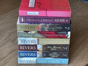 8 Francine Rivers Book Lot - Redeeming Love Lineage Marta's Haven Scarlet Thread