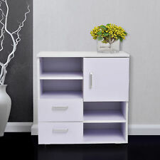 HOMCOM Storage Cabinet Sideboard Wooden Cupboard with Drawers Shelves White