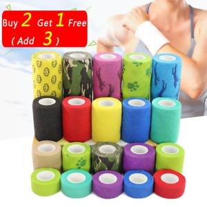 4.6m Self-adhesive Sport Elastic Wrist Finger Bandage Tape First Aid Strap Band