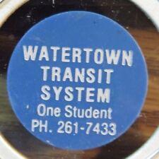 1990 Watertown, WI Transit System Blue Plastic Token - Wisconsin