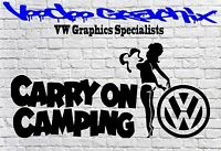 VW CARRY ON CAMPING STICKER Car Window VW Vinyl Sponsor Decals T5 T4 T6