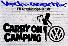 VW CARRY ON CAMPING STICKER Car Window VW Vinyl Sponsor Decals T5 T4 T6