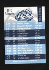 Colorado Ice--2010 Pocket Schedule--IFL