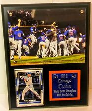 "World Series 2016 Chicago Cubs w Sport Card Plaque 8"" x 10"" Black Board"