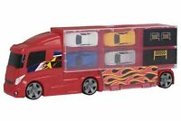 Teamsterz Car Transporter Truck Lorry With 4 Cars in Cary Case Vehicle Kids Toy