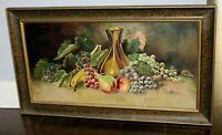 Vintage Original Framed Painting - Still Life Fruit Scene Dated1922