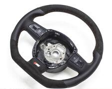 S-LINE Alcantara Flattened Steering Wheel Mult Schaltwi Leather Black Audi Q7