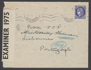Thomas Cook PO Box 506 Lisbon WWII Undercover mail from FRANCE to GB