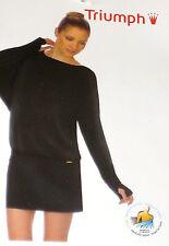 TRIUMPH Donna Lounge Vestito - TGL 42 - Inverno Moments nero NUOVO + conf. orig.
