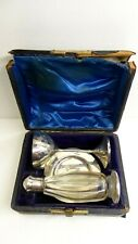 ANTIQUE STERLING SILVER GEORGIAN BOXED COMMUNION SET 1882 COLEN HEWER CHESHIRE