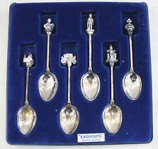 Set of X6 Queen Elizabeth II Silver Jubilee 1952-1977 Teaspoons in Case - L48