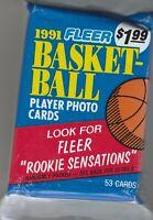 1991 Fleer Basketball Pack 53 Cards