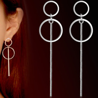 Womens Round Circle Earrings 925 Sterling Silver Plated Studs Stud Drop Dangle