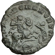 MAGNENTIUS on HORSE vs Enemy 350AD Authentic Ancient Roman Coin of Trier i65517
