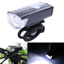 300LM LED Bike Front Light USB Rechargeable Bicycle CREE Lamp Tail Flashlight