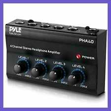 4 Channel Portable Stereo Headphone Amplifier Professional Multi Mini Earphone S