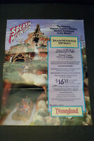 Disneyland Splash Mountain VIP Party Promotional Ad Poster Aug-Sep 1989  MK Club