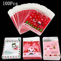 100 Pcs Cellophane Bag Party Favour Cookie Treat Sweet Candy Biscuit Gift Bags