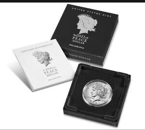 Peace 2021 Silver Dollar Philadelphia (P) 21XH Confirmed Presale