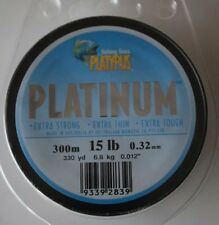 Platypus Platinum mono 20lb  330yds Grey 0.37mm  rods,reels and tackle 4x4