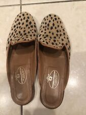 """Stubbs Wootton Size 8.5 8 1/2 Beige """"CAT"""" print Smoking Slippers/Mules shoes"""