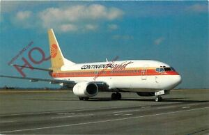 Picture Postcard- CONTINENTAL WEST BOEING 737-3T0