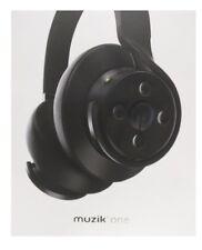 Muzik One Wireless On/Over Ear Headphones Music High Def Smart App Store Black