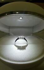 Anello Oro Bianco 18 kt Trilogy Diamanti 0,39 Carati f color IF - Regalo Donna