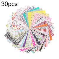 Cn _ 30pcs 10x10cm Patchwork Diy Loisirs Créatifs Motif Floral Couture Tissu