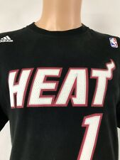 d5a98ae35 Chris Bosh Miami Heat Adidas NBA Jersey T-Shirt Size M MENS Black Shirt