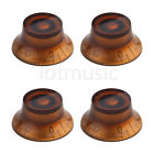 4pcs Amber Bell Knobs Guitar Top Hat Knobs for SG Guitar Parts