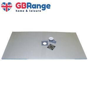 Wet Room Kit Walk in Shower Tray Base Drain Linear Round Floor Level 1800x900mm