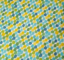 Chasing Waves BTY Red Brolly Marcus Brothers Green Blue Yellow Polka Dots
