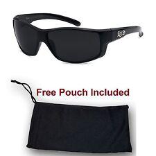 Mens OG LOCS Lowrider Dark Wrap Biker Cholo Sunglasses Gangster thug Black Shade
