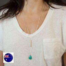 Turquoise Alloy Beauty Chain Fashion Necklaces & Pendants
