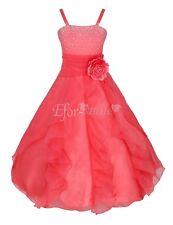 Fancy Flower Girl Princess Prom Party Wedding Bridesmaid Birthday Pageant Dress