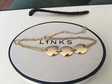 LINKS OF LONDON GRACE 3 STATION OVAL YELLOW GOLD VERMEIL 21CM BRACELET