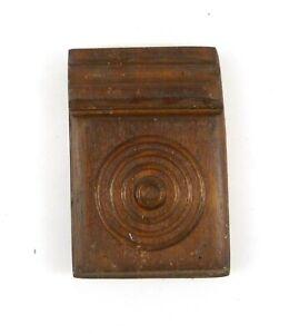 Antique Plinth Rosette Block Door Window Oak Wood Trim Moulding 6.5 x 4.5 x 1