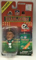 """KARIM ABDUL-JABBAR MIAMI DOLPHINS 3"""" 1998 NFL Headliners Football Bobblehead New"""