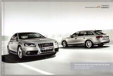 AUDI A4 S4 Berlina & Avant 2009-10 UK Opuscolo Vendite sul mercato se S Linea ALLROAD