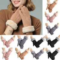 Women's Touch Screen Thick Gloves Winter Windproof Anti-slip Warm Mittens
