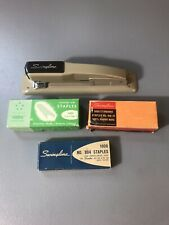 Vintage Swingline Stapler And Staples With Boxes