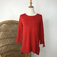 Khoko Smart Long Sleeve Knit Jumper Size 8 XS Red Corporate Career Work