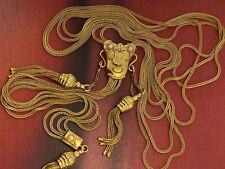 necklace collana VINTAGE SALISCENDI CHARLESTON  antiqueVERO ORO 12 KT ANNI 60-70