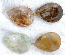 ONE 18x13 18mm x 13mm Pear Golden Rutilated Quartz Gemstone Gem Stone EBS7183