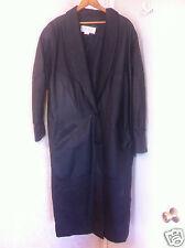 Omint  Black Leather Coat Women's Size L , Winter coat,  Coat